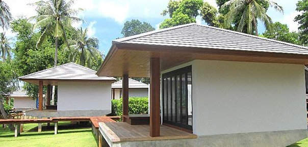 side view of standard Plub Pla villa